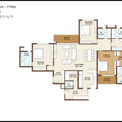 4Bedroom floor plan-Type6 DNR Reflection