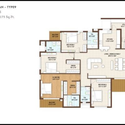4 Bedroom Floor Plan-Type9- DNR Reflection