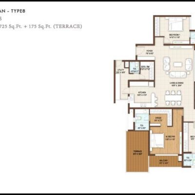 4BHK Floor Plan Type8-DNR Reflection
