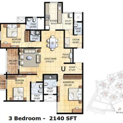 prestige-falcon-city-3-bhk-plan