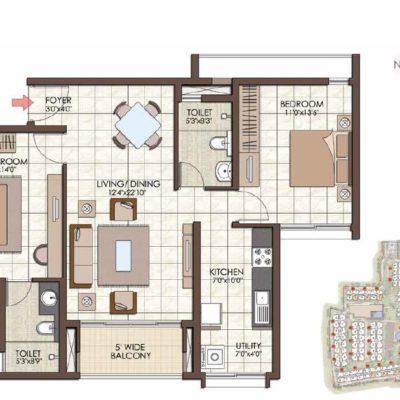 prestige-kew-gardens-2-bhk-floor-plan