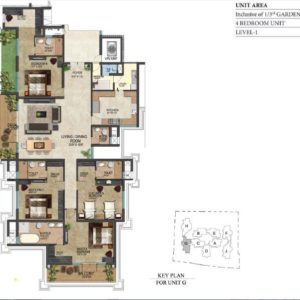 prestige-leela-residences-4-bedroom-floor-plan