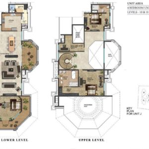 prestige-leela-residences-4-bedroom-pent-house-plan