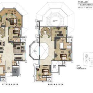 prestige-leela-residences-4-bhk-Duplex-floor-plan