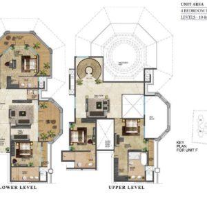 prestige-leela-residences-Duplex-floor-plan