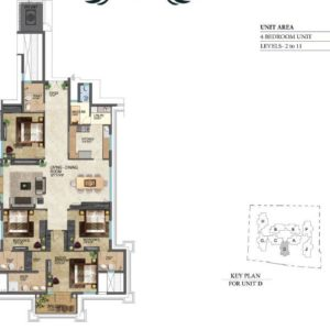 prestige-leela-residences-floor-plan-type-d