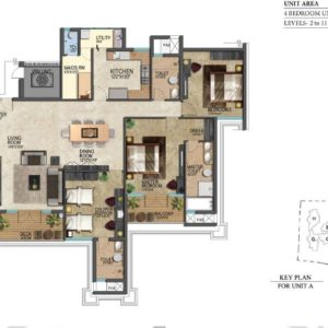 prestige-leela-residences-floor-plan-typeA