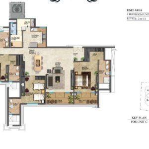 prestige-leela-residences-floor-plan-typeC