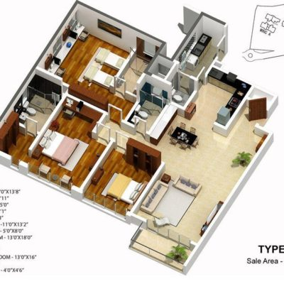 karle-zenith-3-bhk-floor-plan-type-3