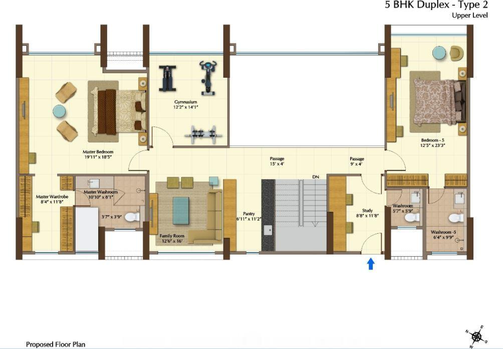 Jp Plan peninsula heights 3 4 bedroom apartments jp nagar bangalore