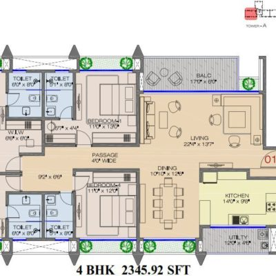 raheja-pebble-bay-koramangala-floor-plan