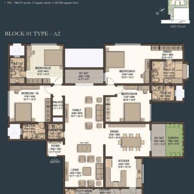 sobha-morzaria-grandeur-4-bedroom-plan