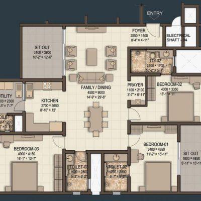 sobha-morzaria-grandeur-floor-plan