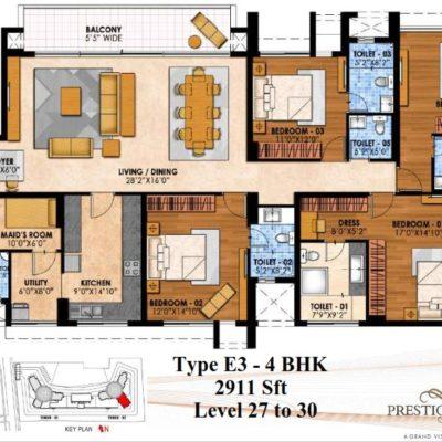 Prestige Fairfield floor-plans