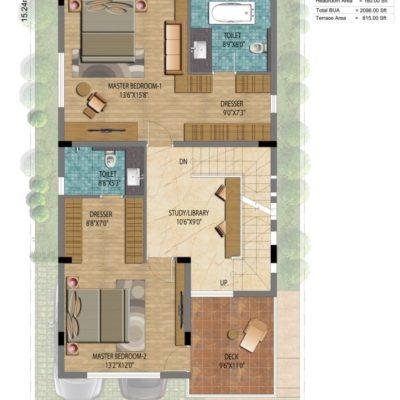 Lake View Address 30x50 Villa