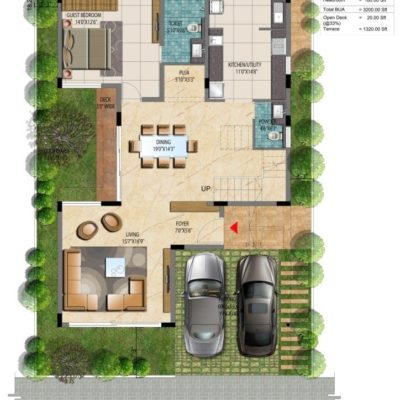 Address Makers Lake View 60x40 Villa Plan