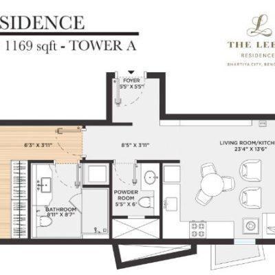 bhartiya-city-the-leela-residences-1-bedroom-floor-plan