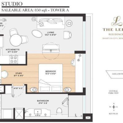 bhartiya-city-the-leela-residences-studio-floor-plan