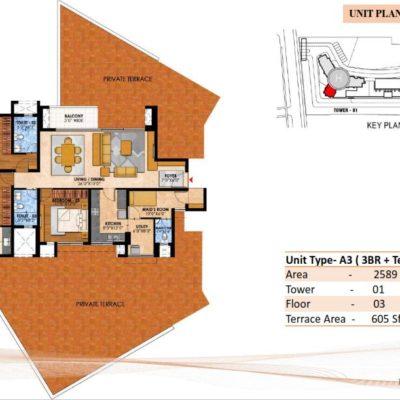 prestige-fairfield-3-bedroom-terrace-plans