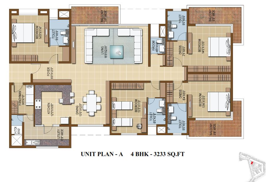 Luxury 4 Bedroom Apartment Floor Plans 18182 Bursary