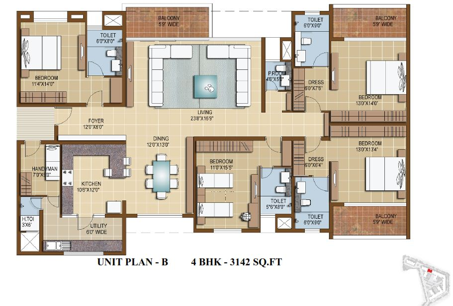 Sterling Infinia 3 4 Bedroom Apartments Bangalore