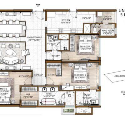 the-leela-residences-bhartiya-city-floor-plans