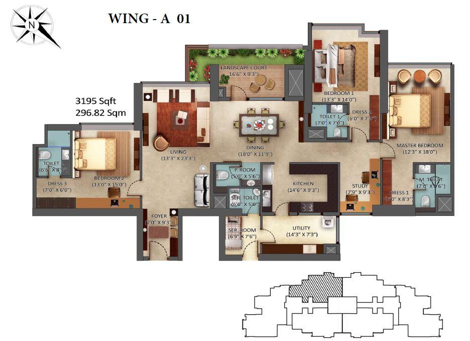 Mantri Centrium 3 & 4 Bedroom Apartments Bangalore