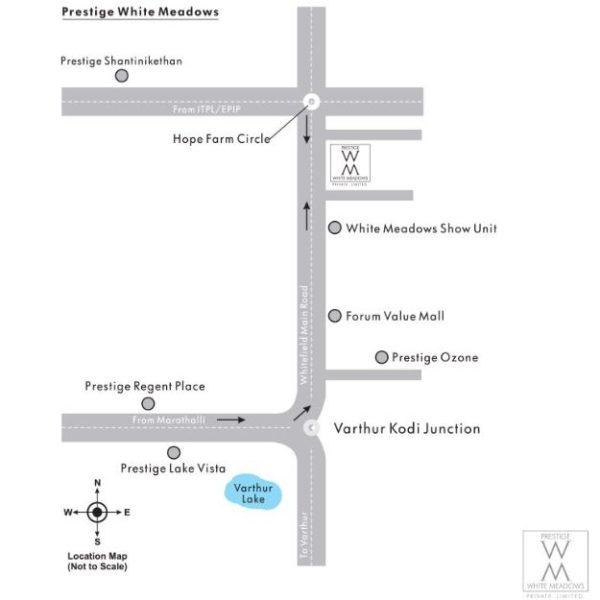 Prestige White Meadows Location Map