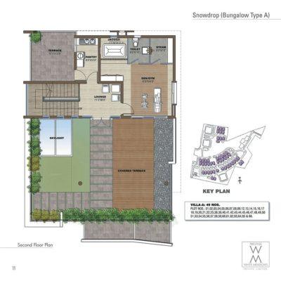 Prestige White Meadows Bungalow 2nd Level Plan