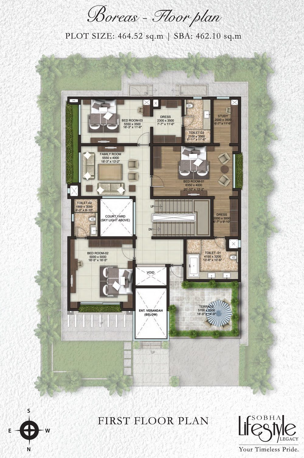 Sobha lifestyle legacy 4 bedroom villas bangalore for Lifestyle homes floor plans