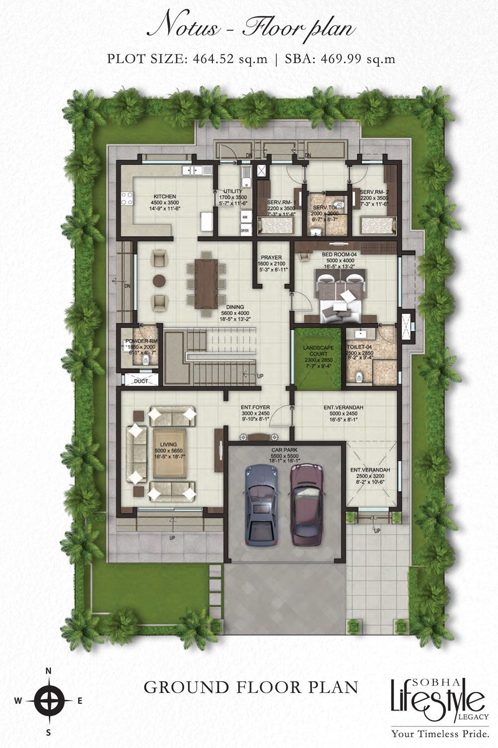 Sobha lifestyle legacy 4 bedroom villas bangalore for Villa house plans