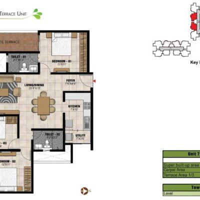 prestige-park-square-3-bedroom-plans