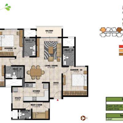 prestige-park-square-bannerghatta-floor-plan