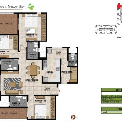 prestige-park-square-gottigere-metro-floor-plan