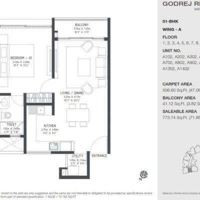 godrej-reflections-1-bedroom-floor-plan