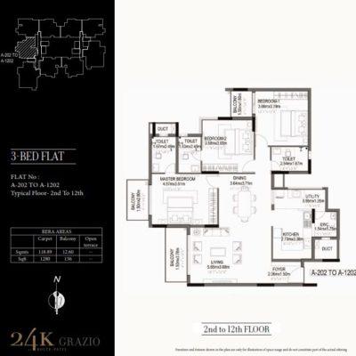kolte-patil-24k-grazio-3-bedroom-floor-plan