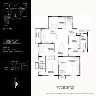 kolte-patil-24k-grazio-4-bedroom-floor-plan