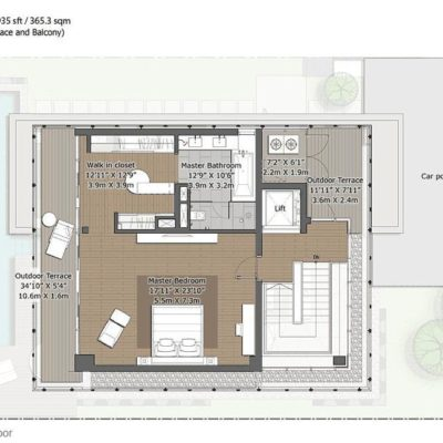 Willow-Second Floor Plan- Embassy Boulevard
