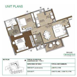 2-Bedroom Type1- Floor Plan
