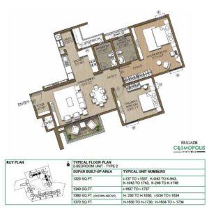 2-Bedroom -Type2-Floor-Plan