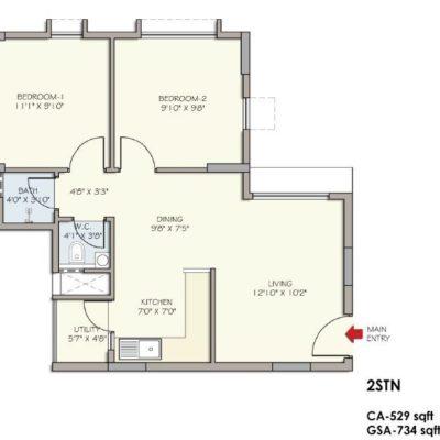 2 STN Floor Plan- Divyasree Republic of Whitefield