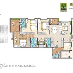3 BHK Type 2C Floor Plan
