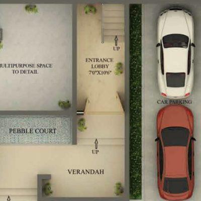 3990 Sq.ft Villa Basement Floor Plan