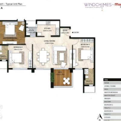 3-bedroom-Mahindra-windchimes-floor-plans