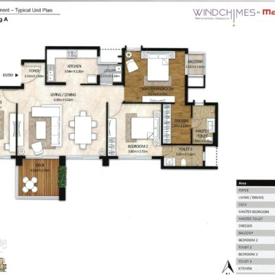 3-BHK-Mahindra-windchimes-floor-plan