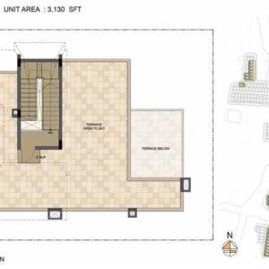 Arista-Type 1-villa Terrace floor plan