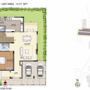 Arista-Type 2-villa Ground floor plan