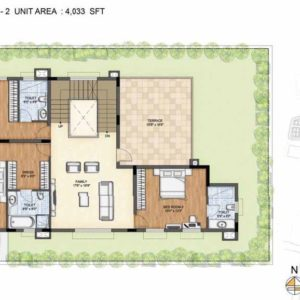 Baylene -Type 2-Villa First floor plan