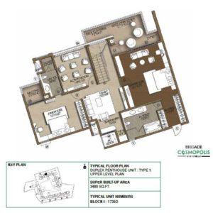 Duplex PentHouse-Type1-Upper-Level-Floor-Plan