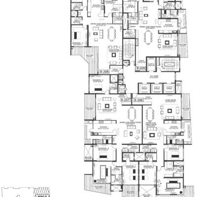 Godrej Platinum Wing B - second Floor Plan